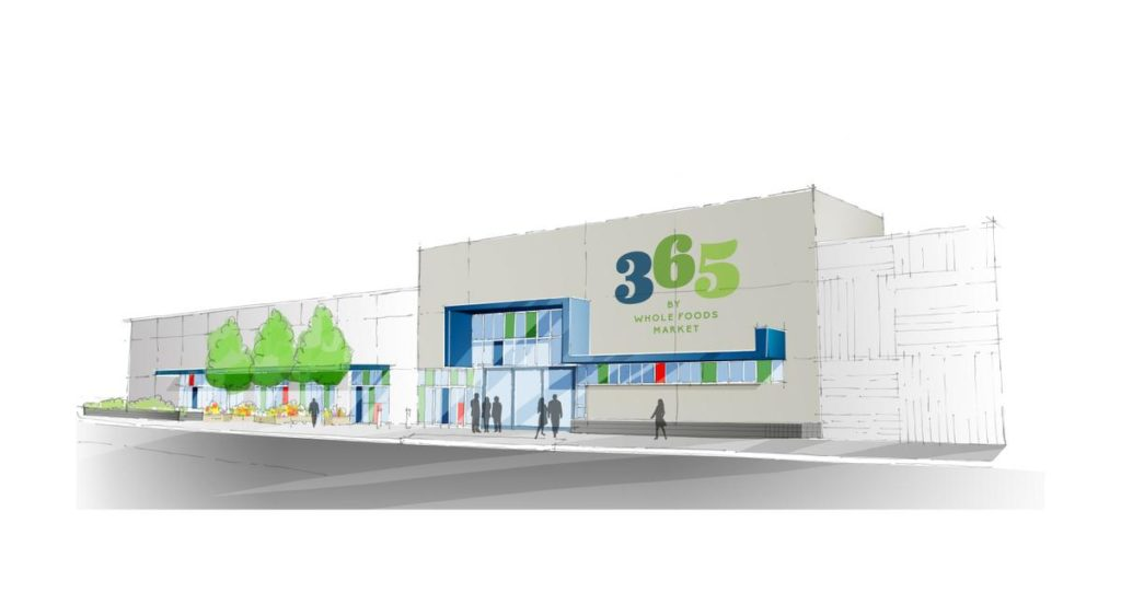 Artist's rendering of a 365 by Whole Foods Market store. Whole Foods recently announced it will open a 365, which has lower prices and caters to young adults, in Los Alamitos.MICHAEL GOULDING, STAFF PHOTOGRAPHER